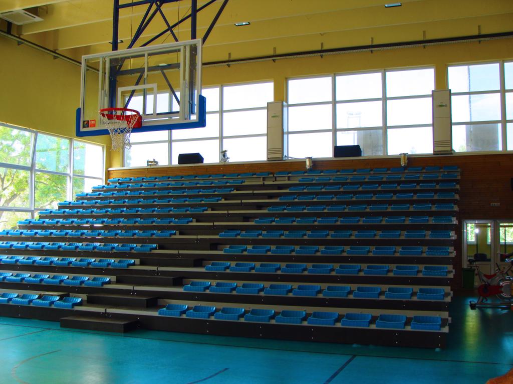Подвижни трибуни със стоманена конструкция за спортна зала град Добрич - 1