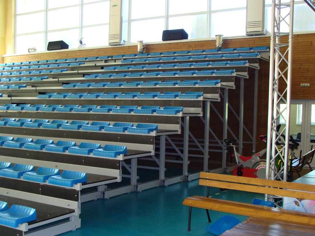 Подвижни трибуни със стоманена конструкция за спортна зала град Добрич - 4